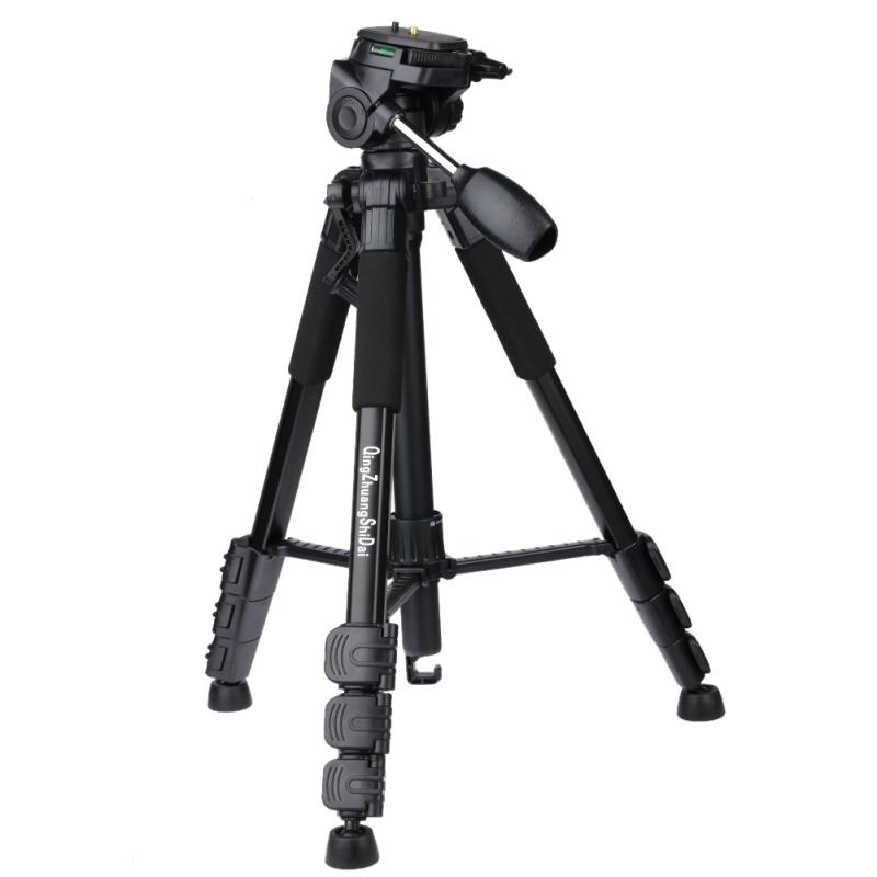 Prix pour Professionnel Q111 Trépied En Aluminium Caméra Accessoires Stand avec Pan Head pour Dslr Caméra