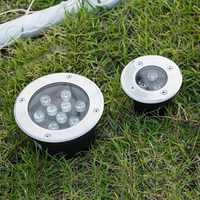 NEW 1W/3W/5W/6W/7W/9W/12W/15W/18W LED Outdoor Ground Garden Floor Underground Buried Lamp Spot Landscape Light AC 85-265V IP67