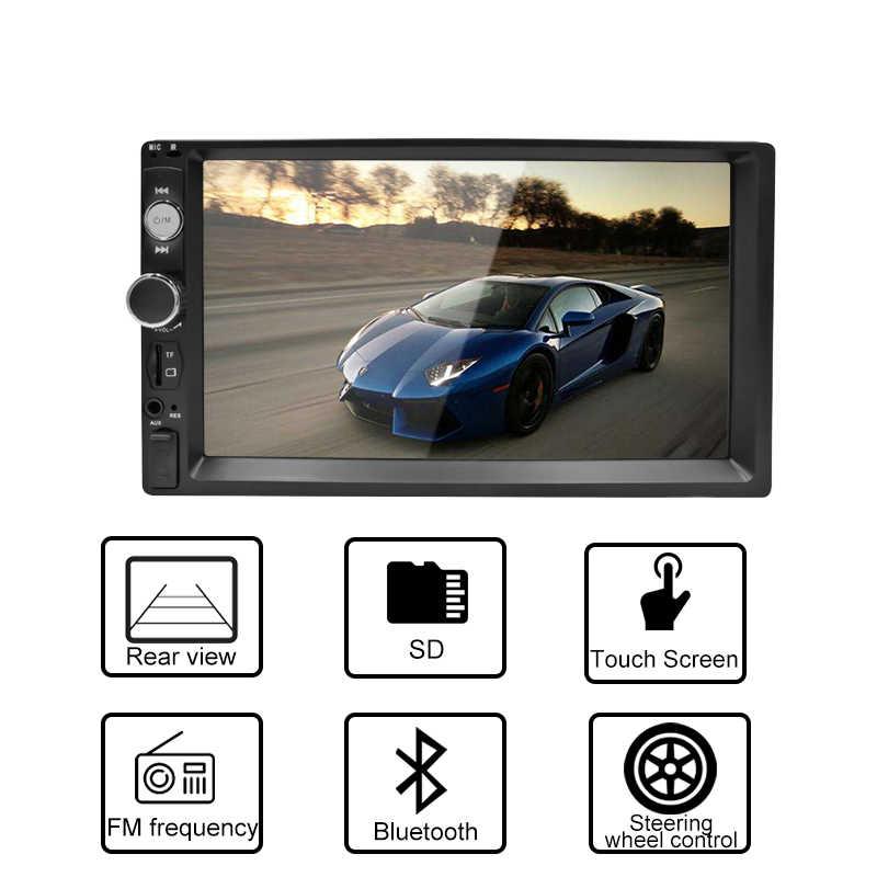 2Din Mobil Radio Bluetooth Stereo Multimedia Player Autoradio MP3 MP5 Layar Sentuh Auto Radio Android Dukungan Kamera Rear View
