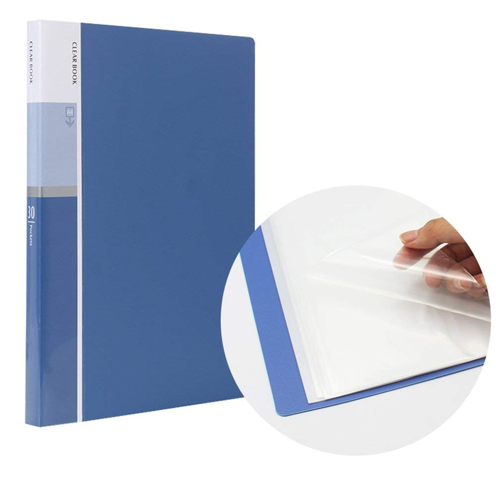 60 Pockets Presentation Book With Sheet Protectors A4 Size Business Folders