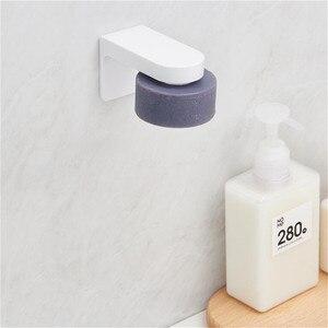 Image 4 - Youpin HL soporte magnético para jabón para el hogar, contenedor dispensador, accesorio de pared, plato de jabón de adherencia para accesorios para el baño