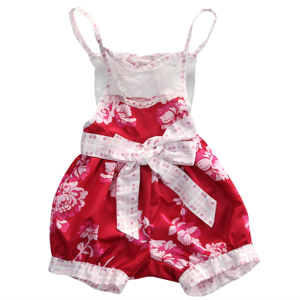 Newborn Toddler Kid Baby Girl Infant Lace Sleeveless Romper Jumpsuit Kids Girls Cotton Floral Summer Clothes Outfit Set infant baby girls romper lace floral sleeveless belt romper jumpsuit playsuit one piece outfit summer newborn baby girl clothes