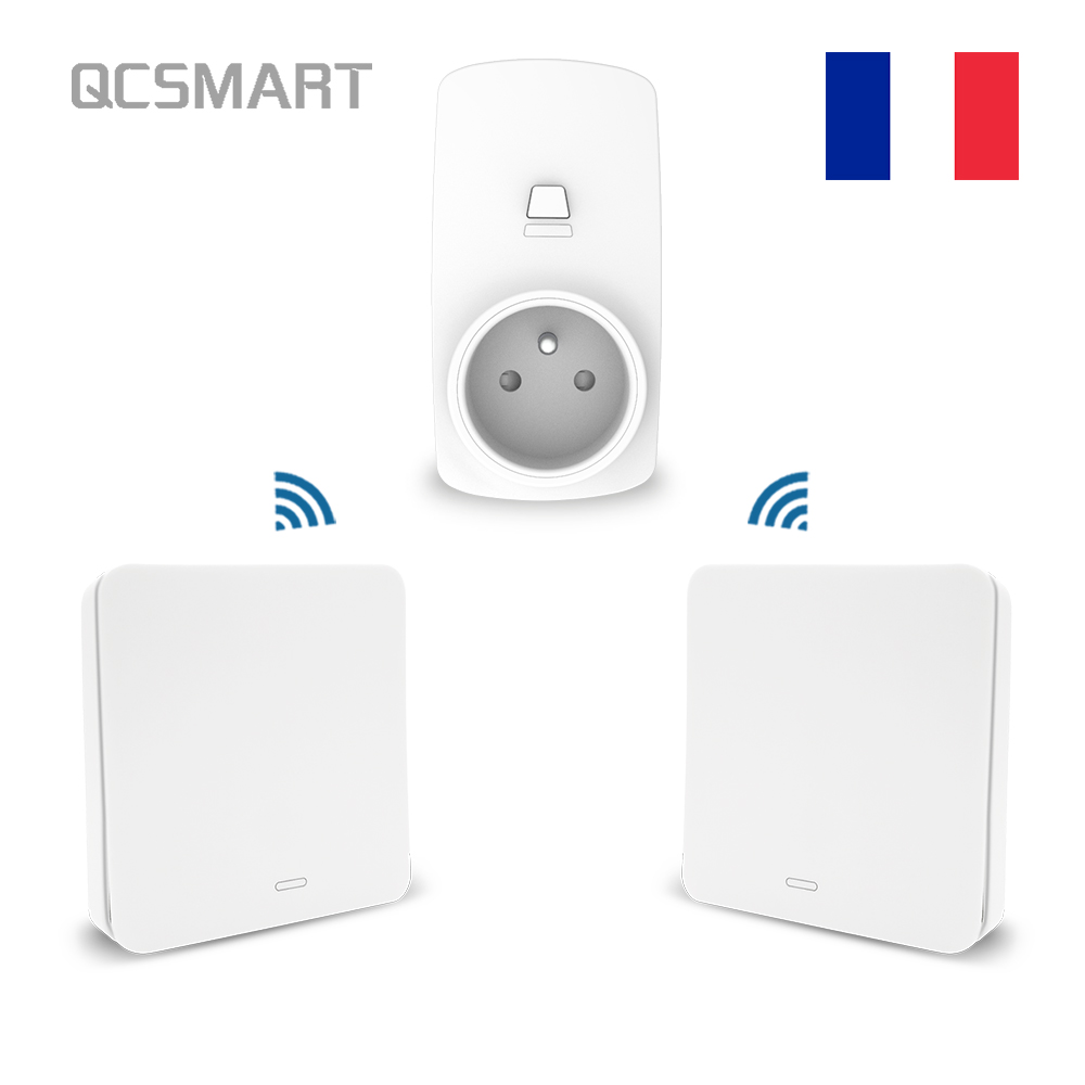 French Type Wireless Socket Remote Control Outlet Plug 10A, Self Powered Kinetic Wireless Switch No Battery, No Wiring RequriedFrench Type Wireless Socket Remote Control Outlet Plug 10A, Self Powered Kinetic Wireless Switch No Battery, No Wiring Requried