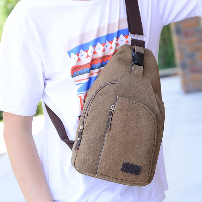 Man Shoulder Bag Men Sport Canvas Messenger Bags Outdoor Travel Hiking Military Bag