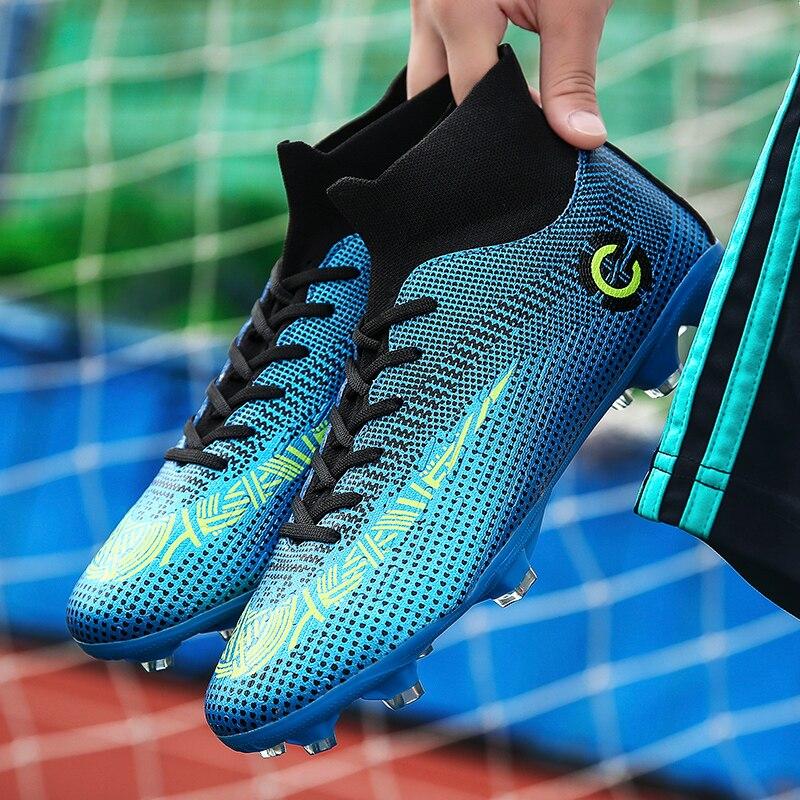 Zeeohh Adult Kids Futzalki For Men Boys Centipede Soccer Shoes Cleats Boot Futsal Professional Shoe Football Sneakers Size 36-45