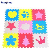 Marjinaa Children's soft developing crawling rugs,baby play puzzle number/Star/cartoon eva foam mat,pad floor for baby games(China)