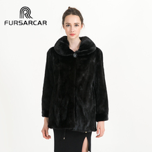 Real Mink Fur Coat Hot Sale Women Natural Fur Winter Genuine Mink Fur Jackets Full Sleeves Down Waistoat BF-C0457