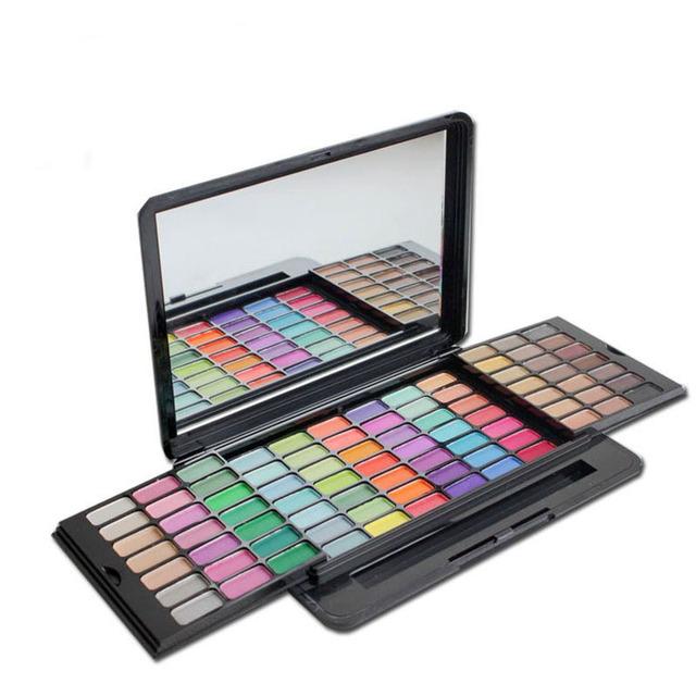 Caliente sombra de ojos maquillaje cosmético Set maquiagem moda feminina nuevo 82 caliente del maquillaje del Color de sombra de ojos paleta B009 con espejo