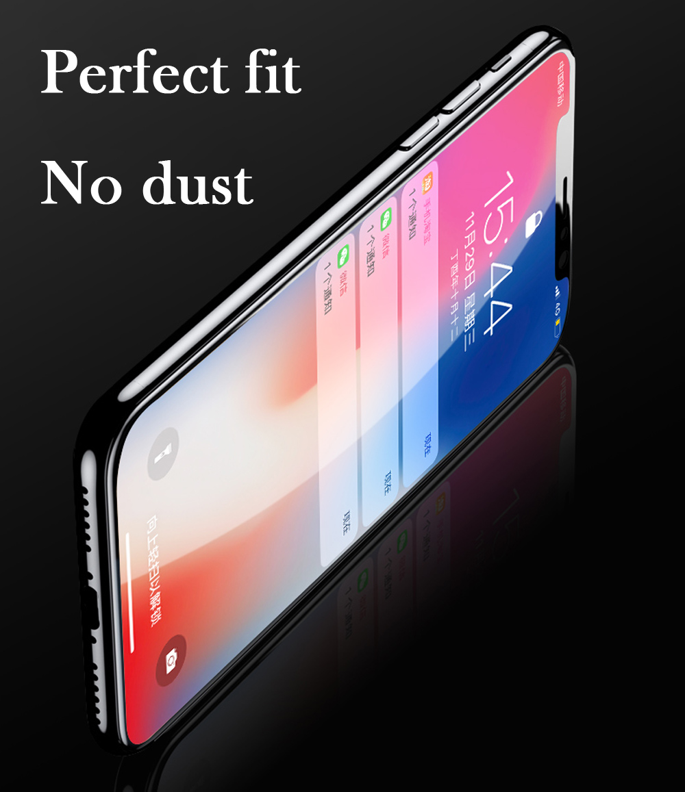 New 7D Screen Protector Curved Edge Full Cover Protective Glass For iphone X 8 7 6 Plus 9H Protective Glass white black Film  (6)