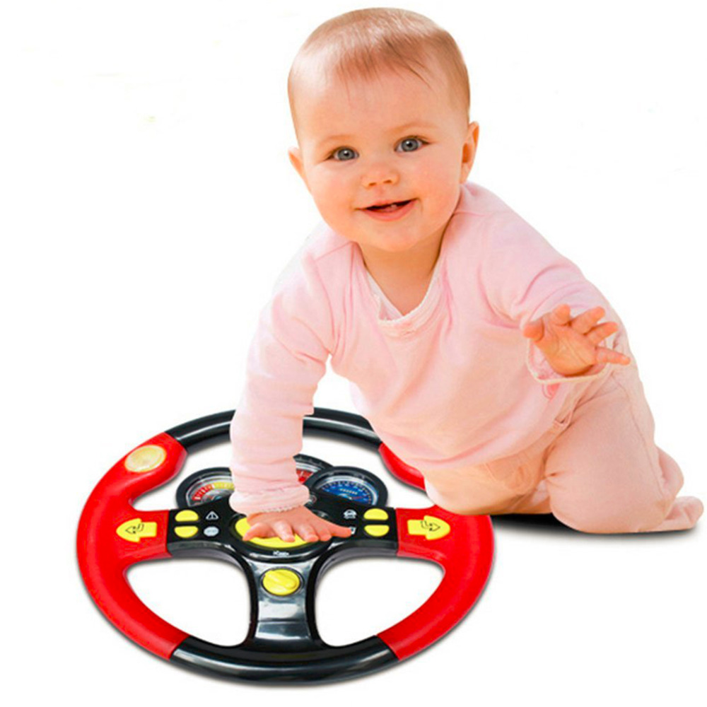 Toys Childrens Steering Wheel Toy Baby Childhood Educational Driving Simulation ...