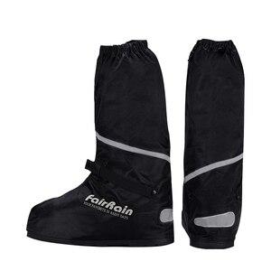 Image 5 - 卸売再利用可能な防水靴カバーノンスリップオートバイサイクリング雨靴カバー防水の靴男性