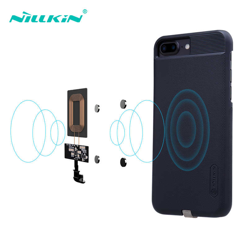 brand new aa496 bb5eb NILLKIN For iPhone 6 6S 7 7 Plus Wireless Charging Receiver Case Magnetic  Qi Wireless charging Receiver Pad Copper Coil Patch
