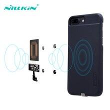 Nillkin case magnético para iphone 6, 6s, 7, plus, receptor de carregamento sem fio, cobre remendo de bobina