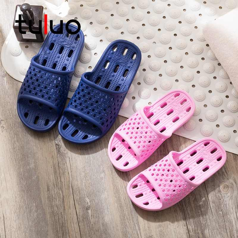 db52bb9d8 ... Couple Lightweight Quick Drying Non-slip Beach Sandals Men Summer Women  Badeschuhe Bathroom Slippers Sandalias ...