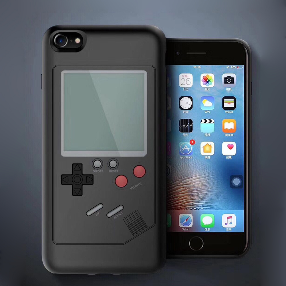 100sets Phone Cases for iPhone X 6plus 7 7plus 8 8plus Play Tetris Blokus Game Console Cover Protective Gift Handheld Case