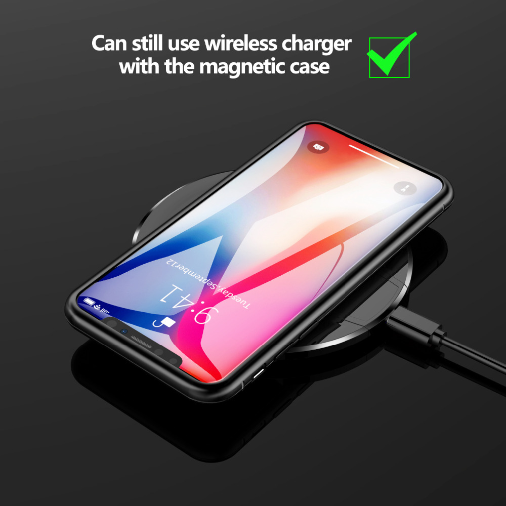 Magneto Magnetic Adsorption Metal Glass Case for Samsung Galaxy S8 Plus  Cases Cover for Samsung Galaxy S9 Plus S7 Note 8 9 Case