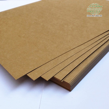 A3 Brown Kraft Paper DIY Card Making Craft Paper Blank Kraft Paper 160gsm - 450gsm 200pcs\lot Free shipping