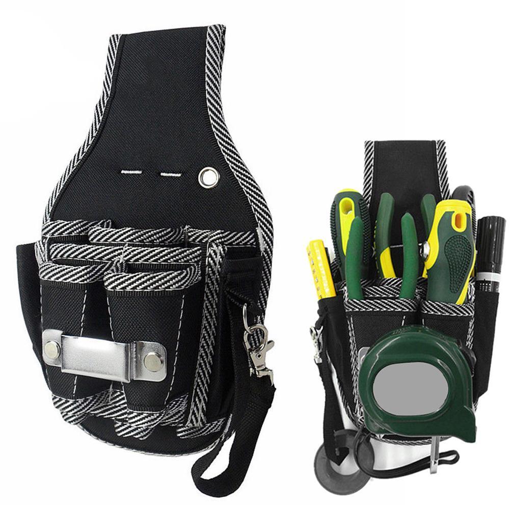 Honey Electrical Tool Multi-pocket Bag Waist Belt Holder Carpenter Electrician Pouch Tools Holder Car Repair Wearing Equipment
