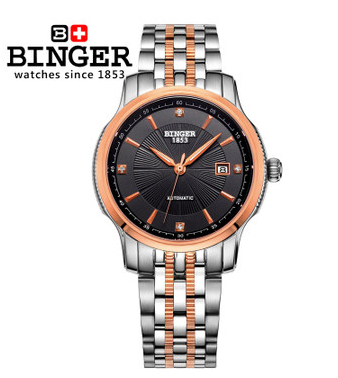 Binger New Design Wristwatch Brand Colouring Hollow Out Automatic Mechanical Watch Men Skeleton Swimming Watches 50M