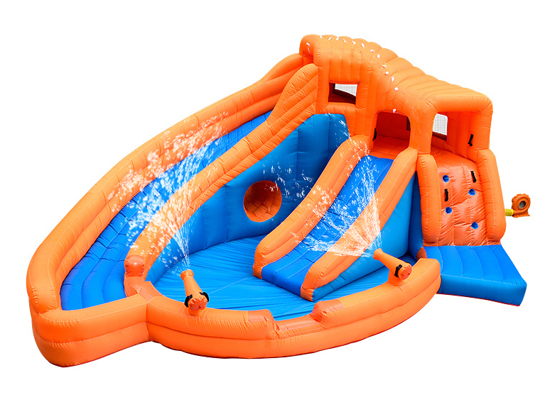 Inflatable Castle Bouncer Tramppoline For Kids Indoor Or Outdoor Two Slides and The Pool inflatable slides inflatable castle inflatable combinations inflatable bouncer hxb 423