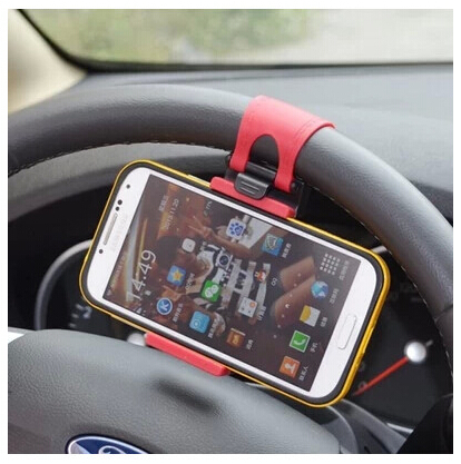 universal car bike bicycle steering wheel cell phone holder Mount Clip accessories iphone 6 6s 5 5c 4s samsung galaxy s6 s5 - Baya International Limited store