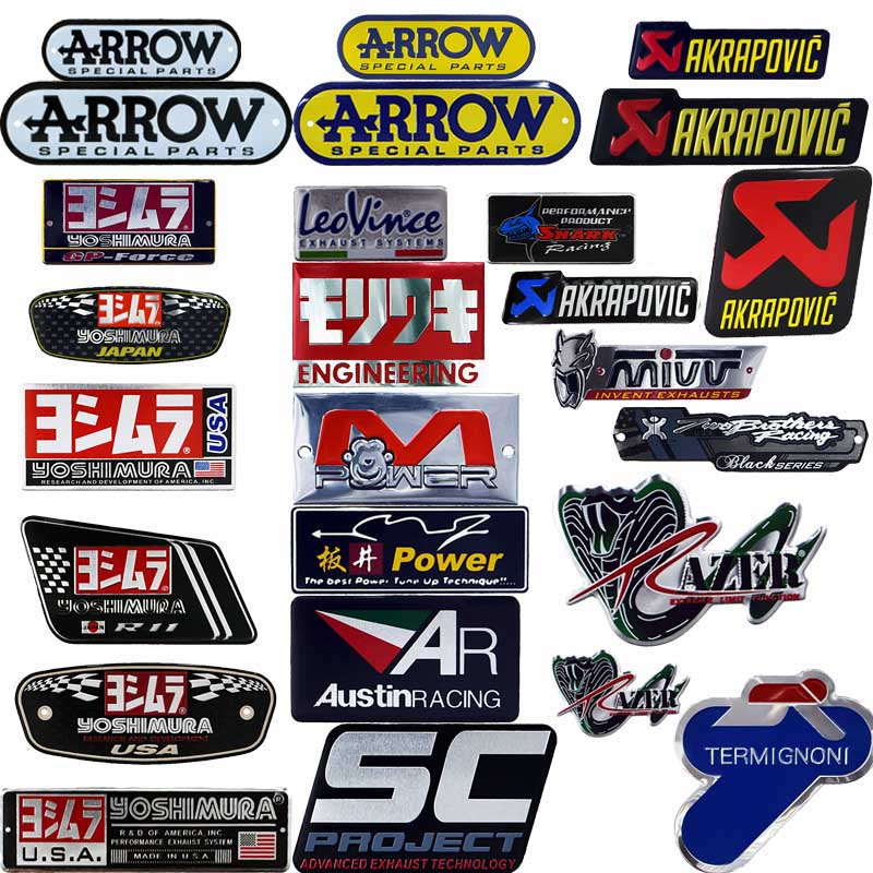 25 style Aluminium Motorcycle Exhaust Pipes Decal Sticker Cool Personality Scorpio For Arrow Yoshimura Stickers SC