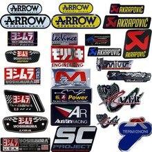 25 алюминия типа мотоцикла выхлопных газов Выхлопные трубы для автомобиля Наклейка Стикеры Прохладный личности Скорпион для стрелка Yoshimura Наклейки SC AR leovince