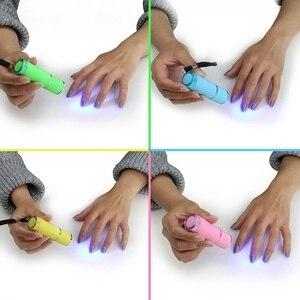 Image 2 - Mini lampe UV Led UV lampe à LED sèche ongles pour ongles en Gel 9 lampe de poche LED portabilité