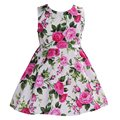 Floral cotton children toddler girls dress brand summer 2016;Casual flower princess teenage kids dress girl bebe Vestido party