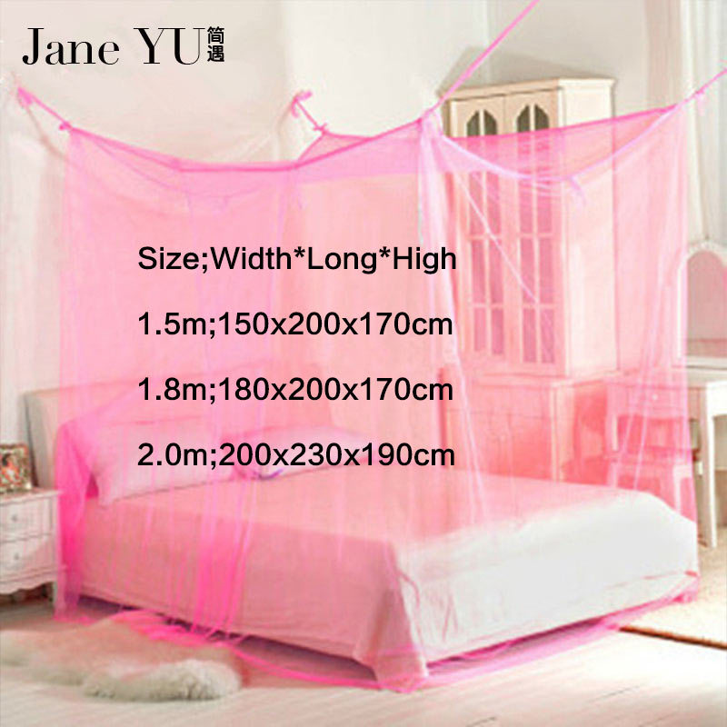 JaneYU Mosquito Net Bug Insect Repeller Box Shape Travel Camping Home 200x230x190cm High Quqlity Bed Curtain Bed Net