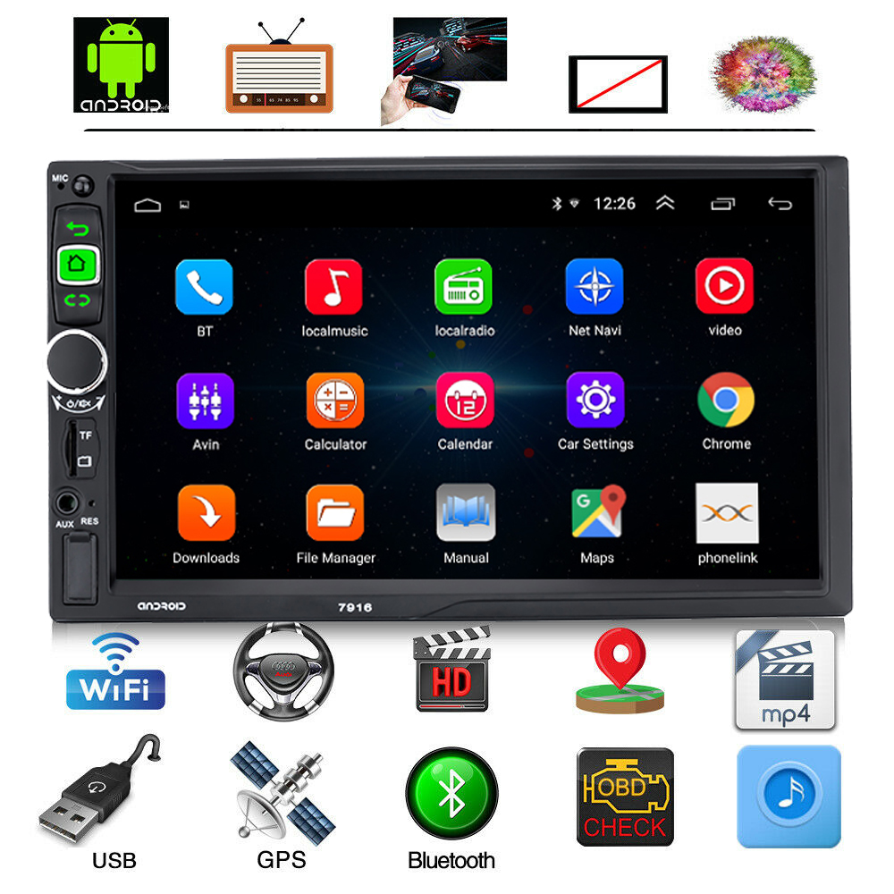 2 Din Android 8.1 Car Radio GPS Navigation Autoradio 7 Touch Screen Car Stereo Multimedia Video Player WiFi  BT FM Mirrorlink2 Din Android 8.1 Car Radio GPS Navigation Autoradio 7 Touch Screen Car Stereo Multimedia Video Player WiFi  BT FM Mirrorlink