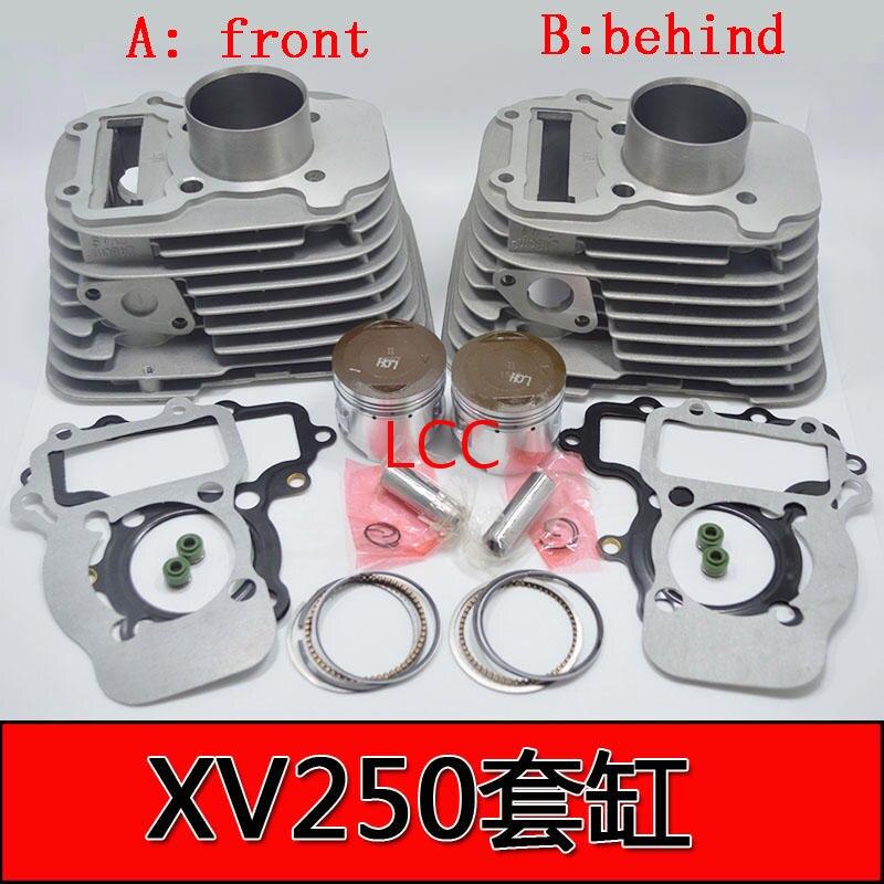 49mm 248CM3 Kit de cilindro de la motocicleta con pistón bloque de cilindros y Pin para YAMAHA QJ250-H XV250 Vento V-twin de la Ruta 66 Virago