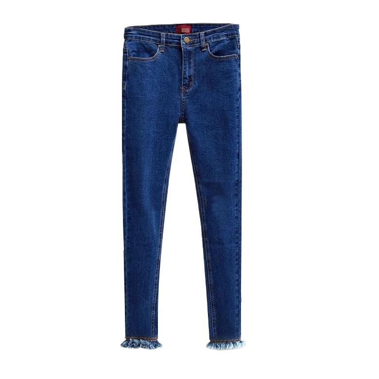 2017 New High Waisted Skinny Jeans Women Slim Denim Pencil Pants Fashion Casual Womens Elastic Denim Jeans  E258 new fashion women casual high waisted casual holes skinny jeans