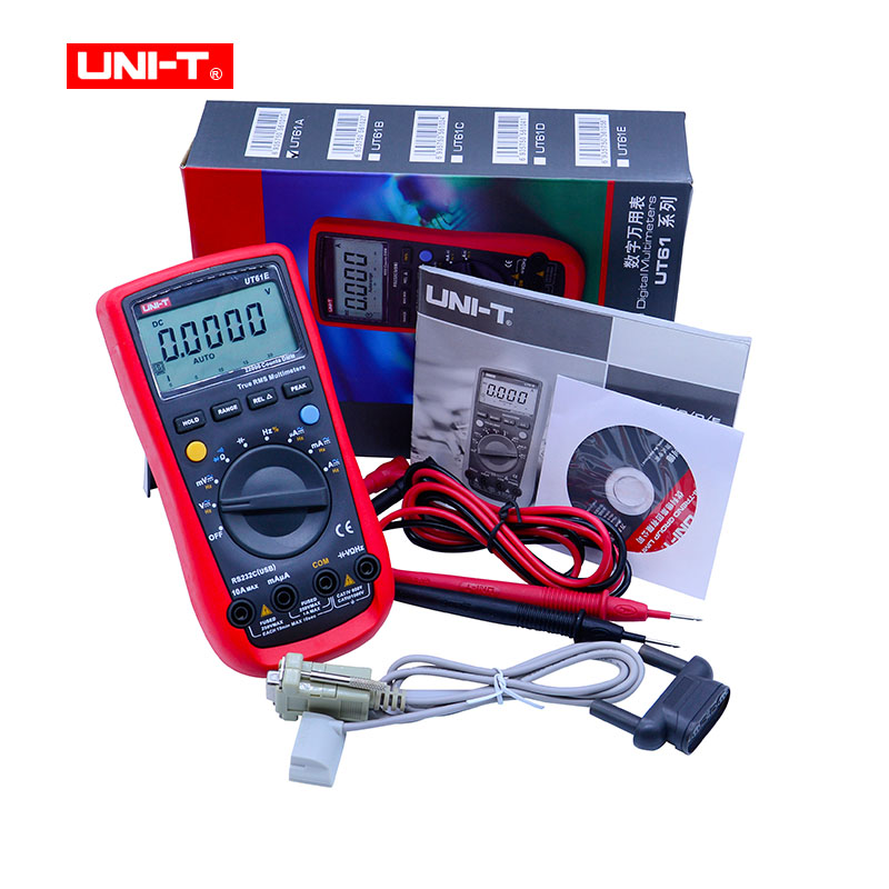 UNI T UT61E Digital Multimeters Meter Digital Multimeter auto range true RMS Peak value RS232 REL