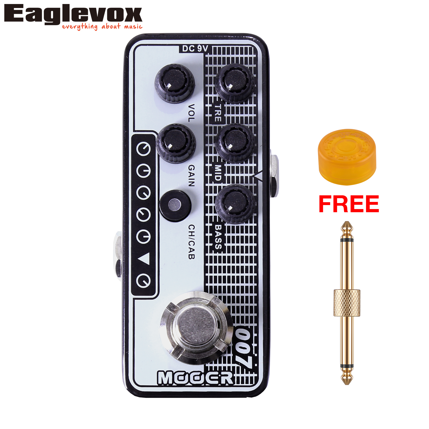 Mooer 007 Regal Tone Micro Preamp 3 band EQ Gain Volume Controls Guitar Effect Pedal with Free Gift mooer 002 uk gold 900 micro preamp dual channel 3 band eq gain volume controls guitar effect pedal with free gift