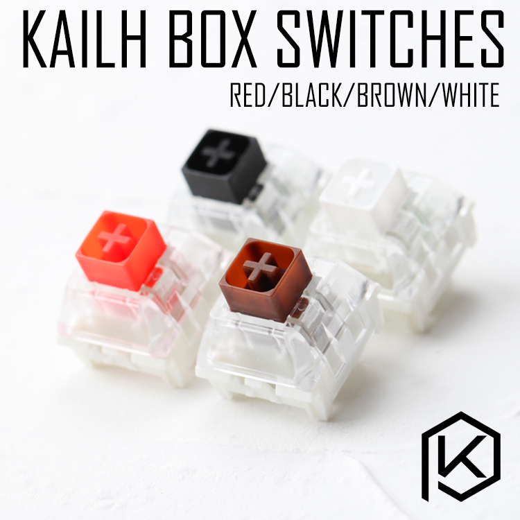 Kailh Box Switch  Black Red Brown White RGB SMD Switches Dustproof Switch For Mechanical Gaming Keyboard  IP56 Waterproof Mx