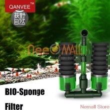 Qanvee воздушный драйвер биохимическая губка, аквариум фильтр скиммер с фильтром медиа коробка для рыб и растений танк