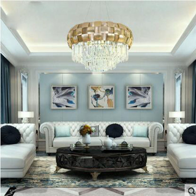 Postmodern crystal chandeliers simple dining room bedroom living room lamp creative personality Villa light luxury Nordic lamps nordic pendant lamps creative retro glass light industrial iron dinning room lamp bedroom living room modo chandeliers dia78cm