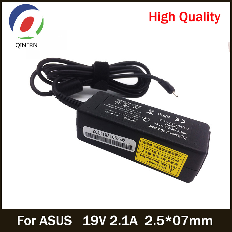 QINERN 19V 2.1A 2.5*07mm AC Laptop Charger For ASUS Laptop Eee PC X101H X101CH R051PX Car Power Supply Laptop Adapter For ASUS