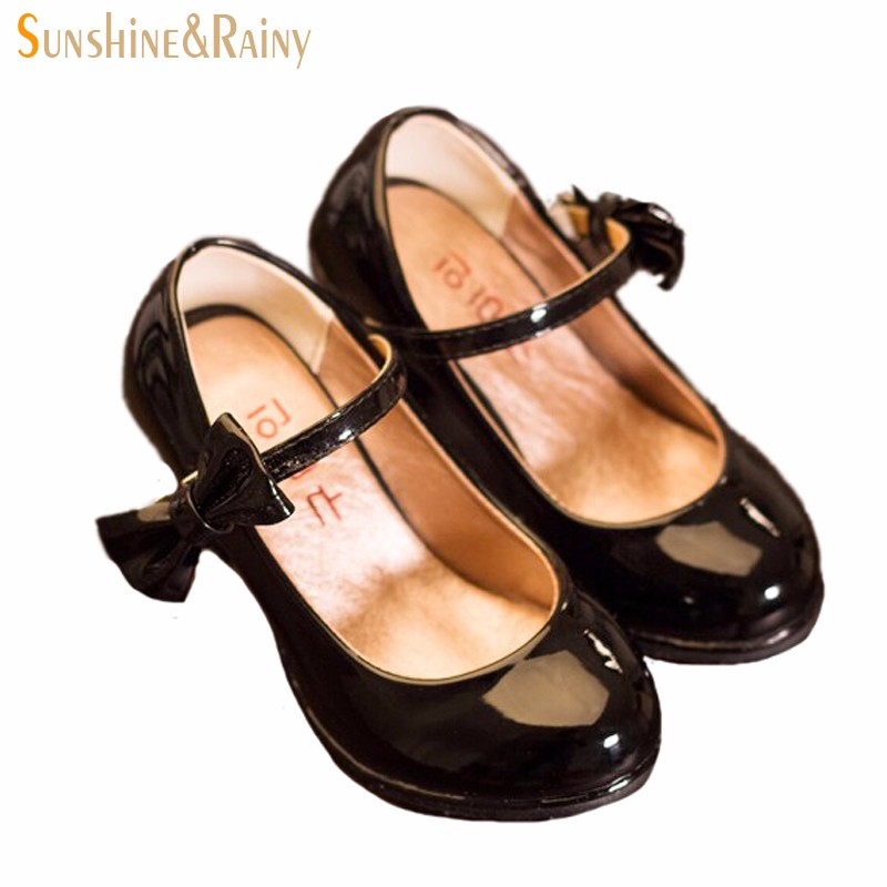 Classic-Bow-Girl-PU-Leather-Shoes-For-Girls-Party-Dance-Children-Kids-Shoes-2-14-Years