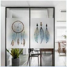 window glass stickers Electrostatic scrub glue-free film feather deer warm transparent opaque