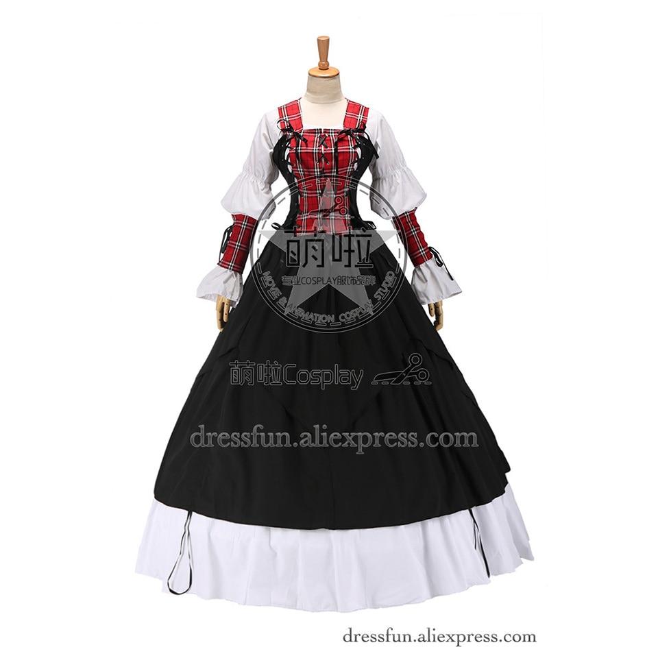 7d119e60563 Готическая Лолита Ренессанс Pirate Wench платье бальное платье Быстрая  доставка специальный круто и мило для Косплэй в Хэллоуин