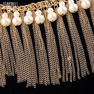 Image 4 - Mädchen großhandel perlen gürtel frauen dance Schmuck perlen bauchtanz kleidung mode bauchtanz hüfte schal auf verkauf
