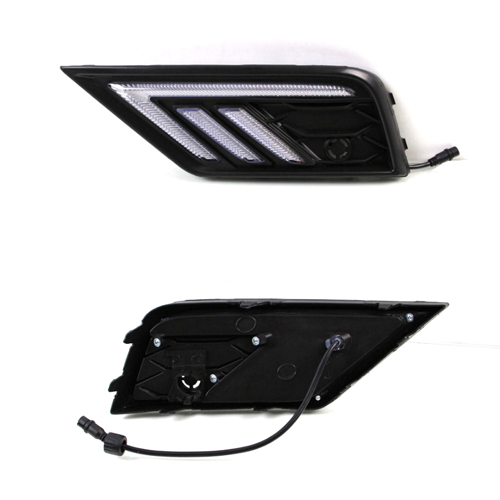 Image 3 - 2*LED Daytime Running Lights Front Light External Lights For Volkswagen Tiguan L Auto Waterproof Car Styling Front Light-in Car Light Assembly from Automobiles & Motorcycles