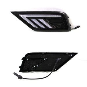Image 3 - 2 * LED النهار تشغيل أضواء الجبهة ضوء أضواء خارجية ل Volkswagen تيجوان ل السيارات مقاوم للماء سيارة التصميم الجبهة ضوء