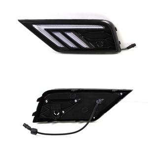 Image 3 - 2 * led luzes diurnas frente luz luzes externas para volkswagen tiguan l estilo do carro à prova dauto água luz dianteira