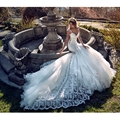 2017 Latest Lace Mermaid Wedding Dresses Sexy V neck Sheer Backless Vestido De Noiva 2017 Beading Court Train Wedding Gowns