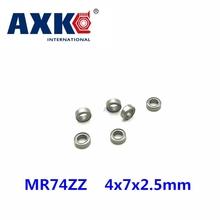 Darmowa wysyłka 10 sztuk mini łożysko MR74ZZ L-740ZZ 4x7x2 5mm łożyska P5 MR74 ZZ 4*7*2 5 łożyska kulkowe głębokorowkowe tanie tanio CN (pochodzenie) Stal łożyskowa deep groove ball bearings superior products 4*7*2 5mm high quality service China lot (10 pieces lot)