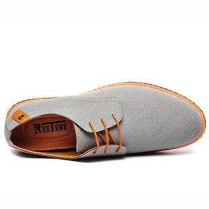 Image 5 - Мужские повседневные туфли Reetene, коллекция 2020 года, мужские модные туфли, удобные летние туфли на плоской подошве, Модель 38 48