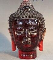 8 Китай Тибет буддизм искусственный пчелиный воск Янтарный Будда Шакьямуни Глава Бюст Статуя